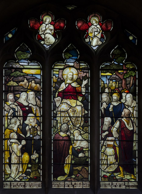 Stained glass window, St Mary's church, Horncastle