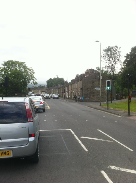 A57 at Queen Street approaching Glossop