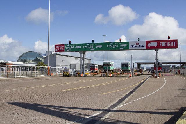 Ferry port entrance