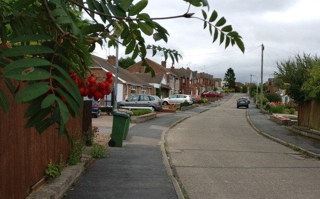 Pits Avenue in Braunstone Town