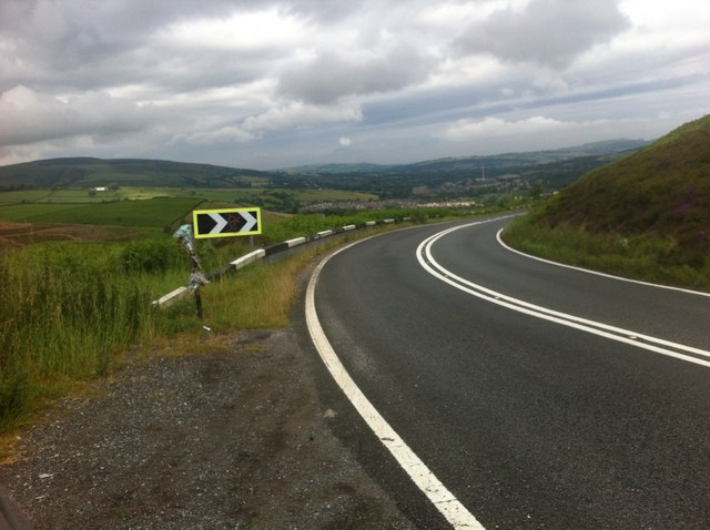 Snake Road approaching Glossop