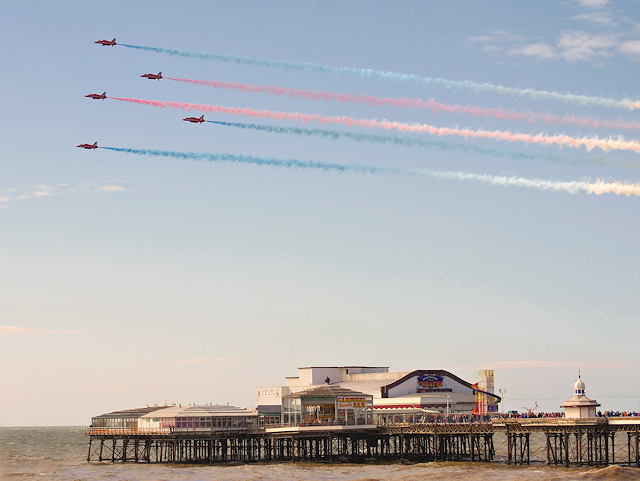 Red Arrows over North Pier
