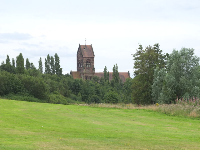 St Chad's from Millbrook Park, Kirkby