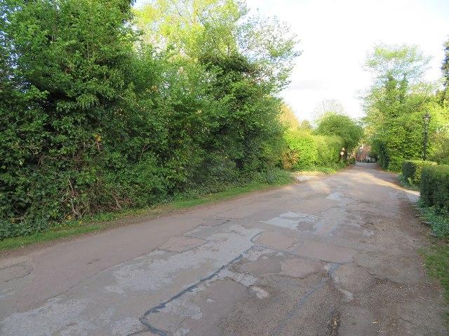 View along Latham Road