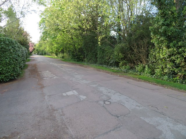 A patchy road surface