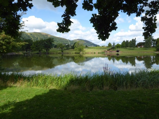 The Malvern Hills reflected in New Pool