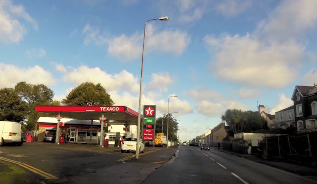 Texaco garage Pwllheli Road