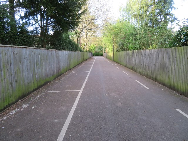 Sports ground access road