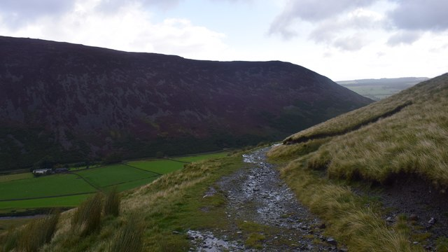 The track from Bowscale Tarn