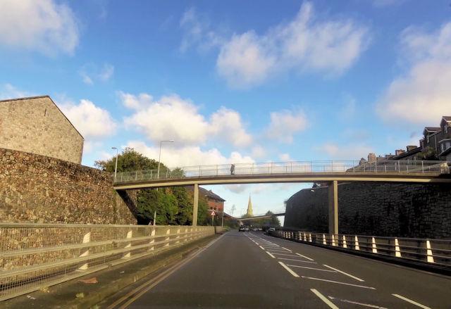 Footbridge over A487