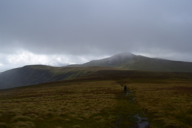 Boggy path leaving Bowscale Fell