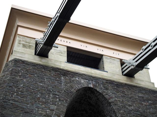 Clifton Suspension Bridge - inscription