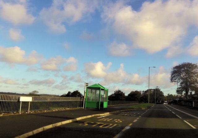 Bus stop on Fforth Bangor