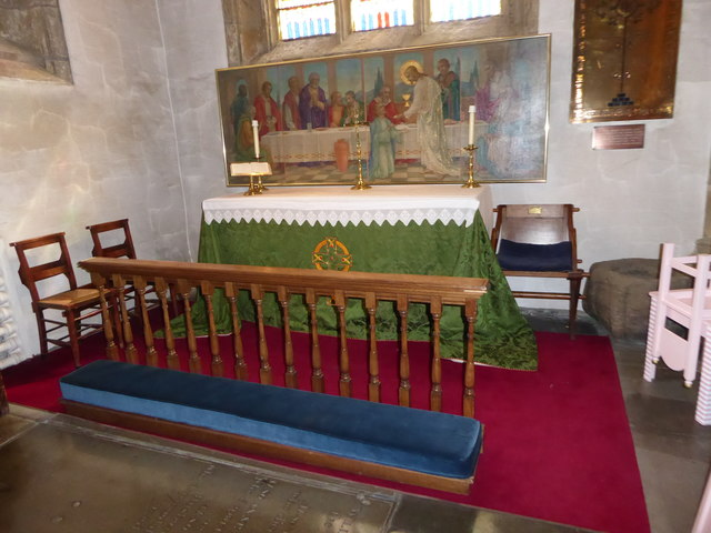 Lancaster Priory: side altar
