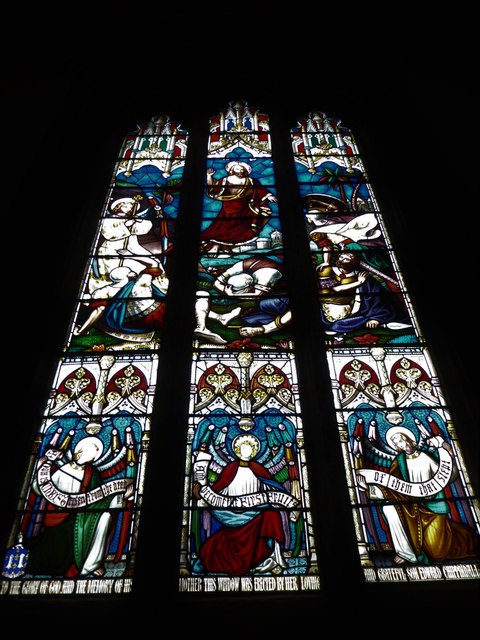 Lancaster Priory: stained glass window (i)