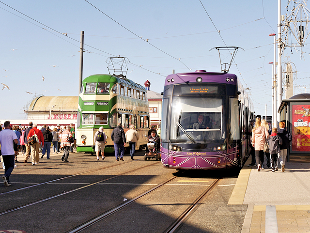 Old and New Trams at North Pier