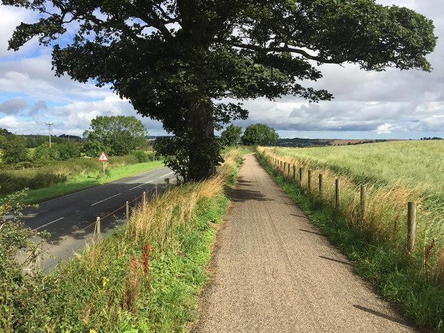 The Northumberland Coast Path at Wooden Farm