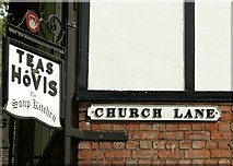 SJ9223 : Signs at Church Lane, Stafford by Alan Murray-Rust