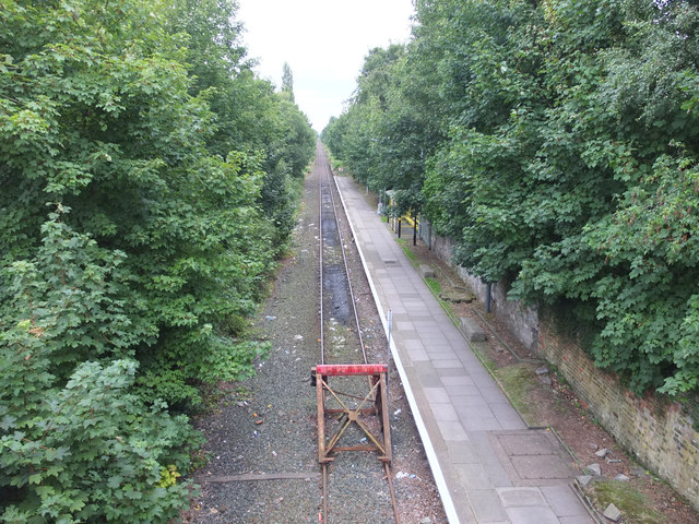 Railway line at Glover's Brow, Kirkby