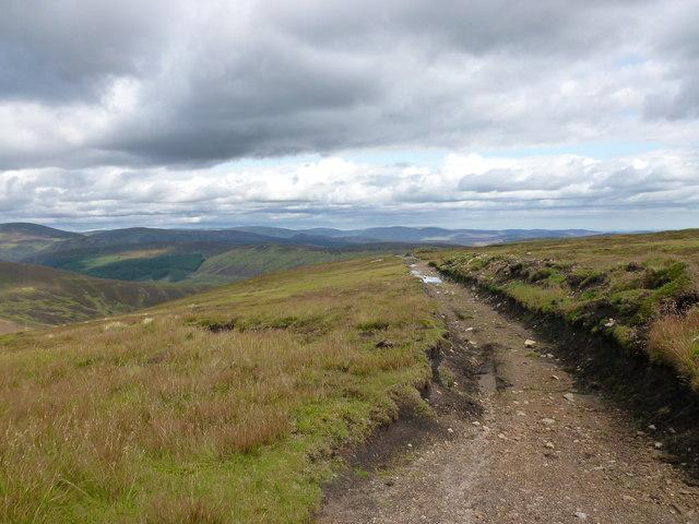 Eroded hill track, Badandun Hill