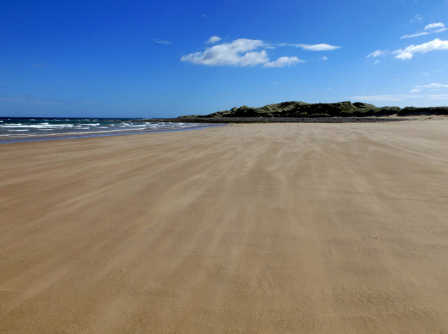 Wind blown sand on the north shore of Lindisfarne