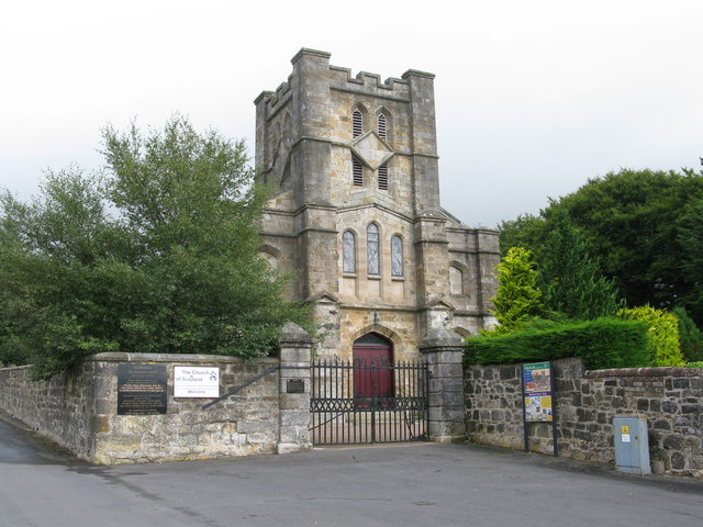 Muirkirk Parish Church (Stopping Point 3 on the River Ayr Way)