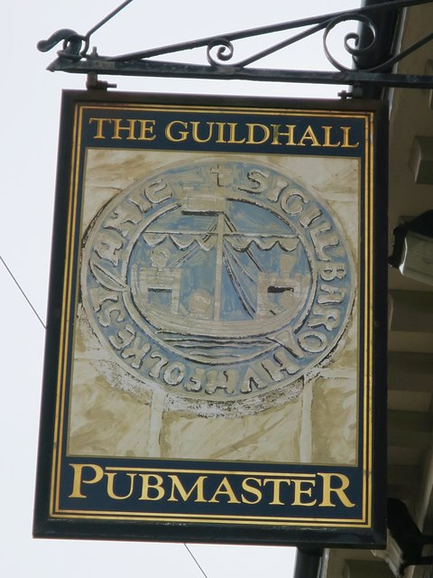 The Guildhall sign