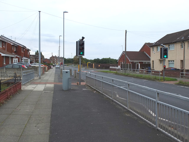 Pedestrian crossing on Whitefield Drive, Kirkby