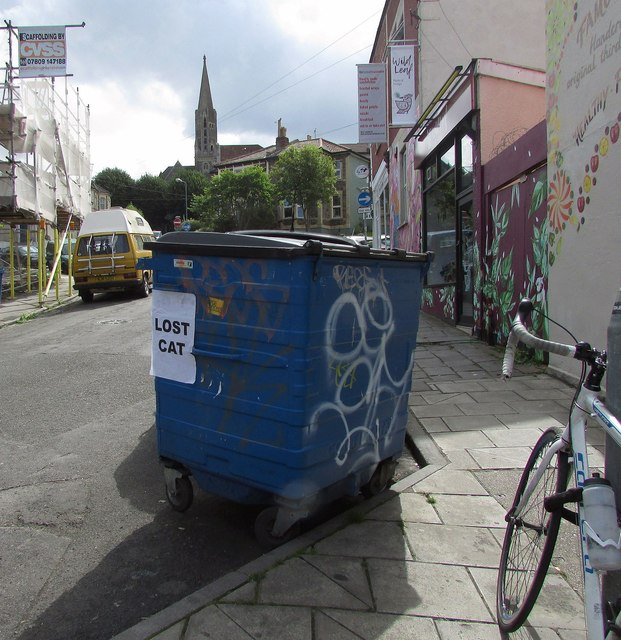 Suspicious bin, Overton Road, Bristol