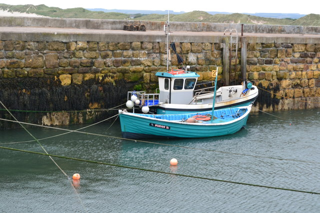 Fishing boats in Beadnell Harbour