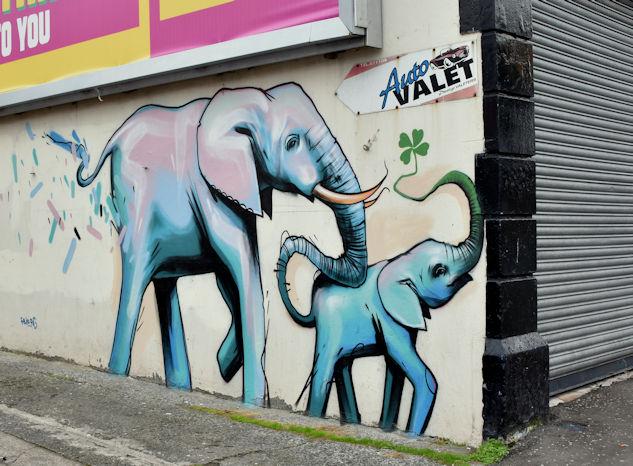 Street art, Holywood Arches, Belfast - August 2017(2)