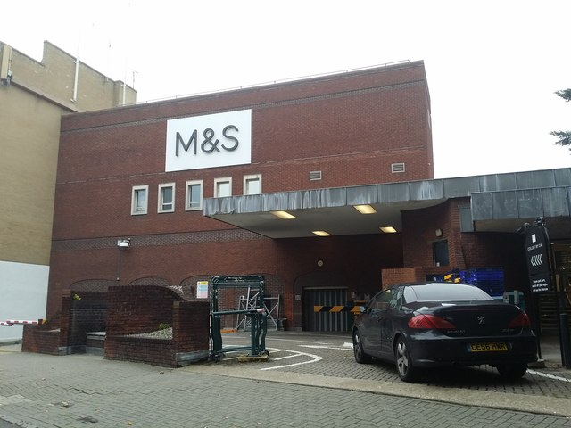 The back of M&S on Red Lion Street