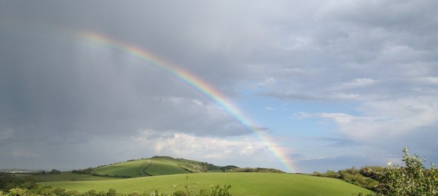 Rainbow over Culver Down