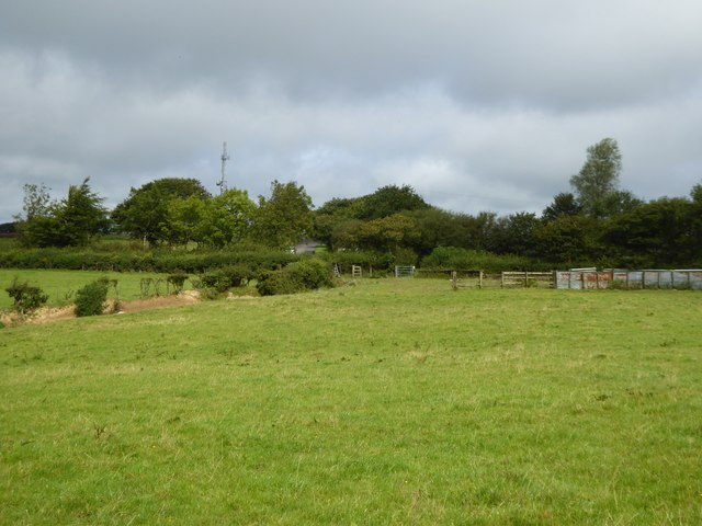 Field with a footpath and a small gate
