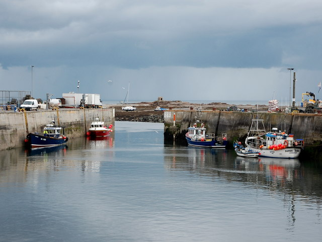 Fishing boats, Seahouses inner harbour