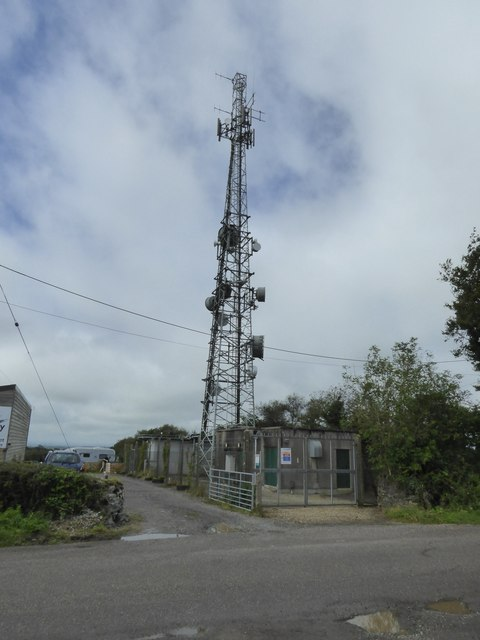 Communications mast at Ashbury