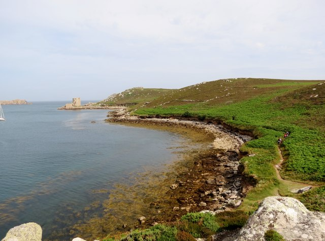 Cromwell's  Castle  from  Braiden  Rock  Tresco