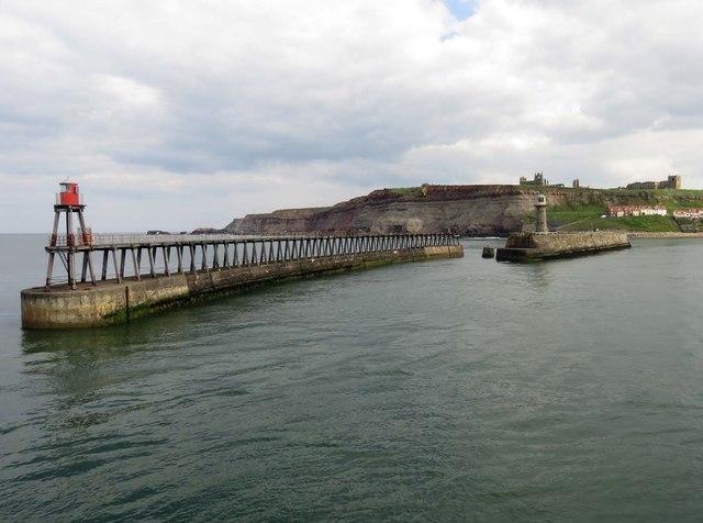 The eastern breakwater in Whitby