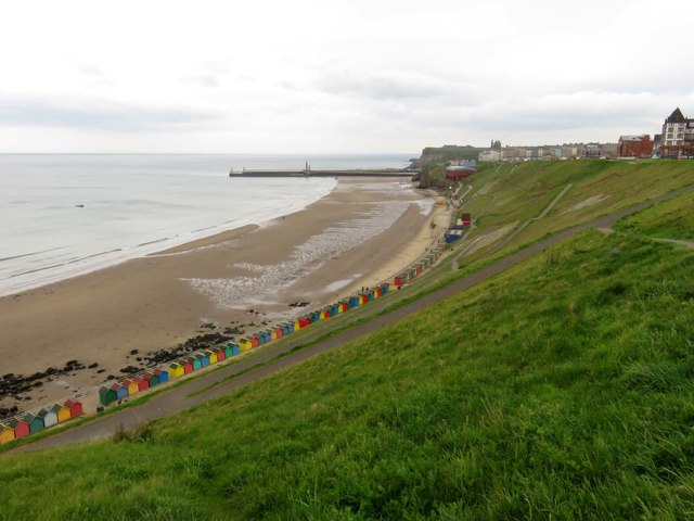 The West Cliff in Whitby