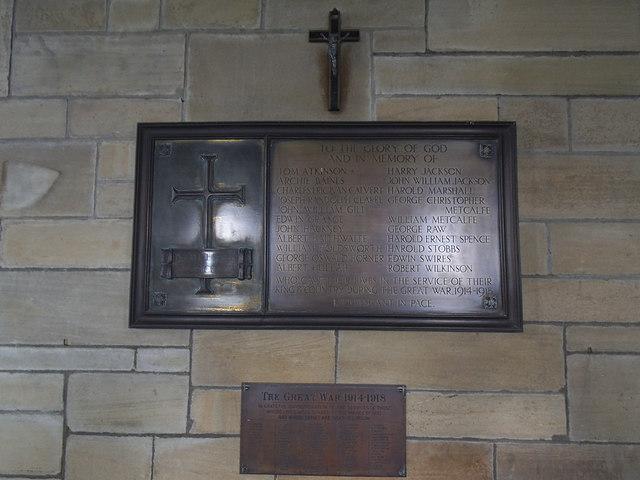 St Michael and All Angels, Wilsill - war memorial