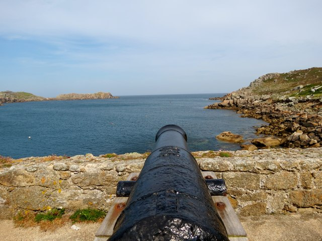 A  cannon's  view  of  the  entrance  to  New  Grimsby  Sound