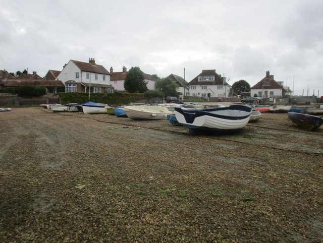 Boats and the end of The Street, West Itchenor