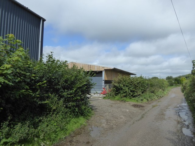 Modern farm building at Cruft