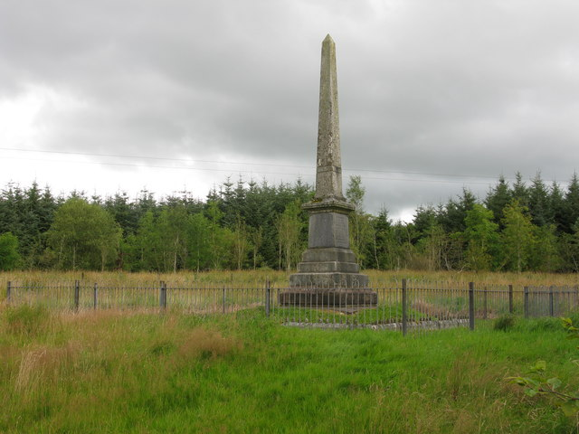 Battle of Drumclog Monument, north-west of Drumclog