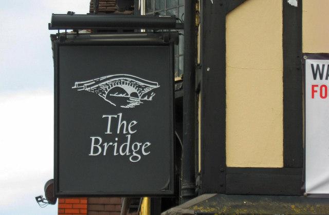 The Bridge or Bridge Inn (b) - sign, Lowesmoor Terrace, Worcester