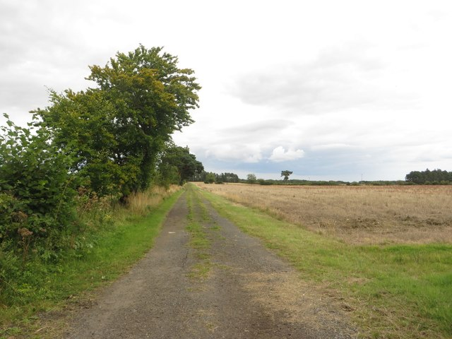 Track south of Nunriding Hall