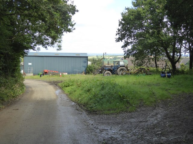 Farm buildings and equipment at Higher Gorhuish