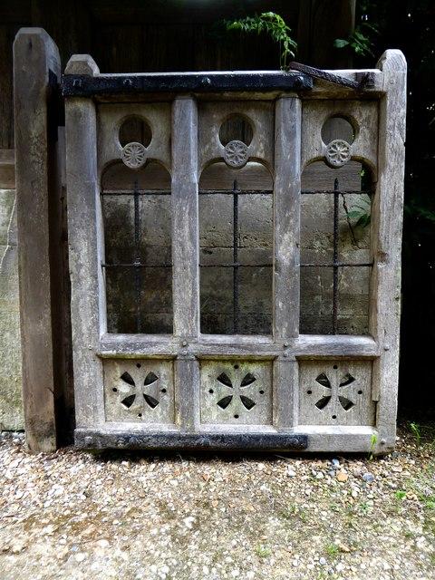 Churchyard gate at Ranmore