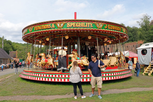 Blists Hill Victorian Town - gallopers