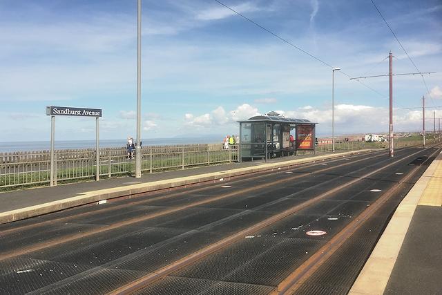 Sandhurst Avenue Tram Stop, Bispham
